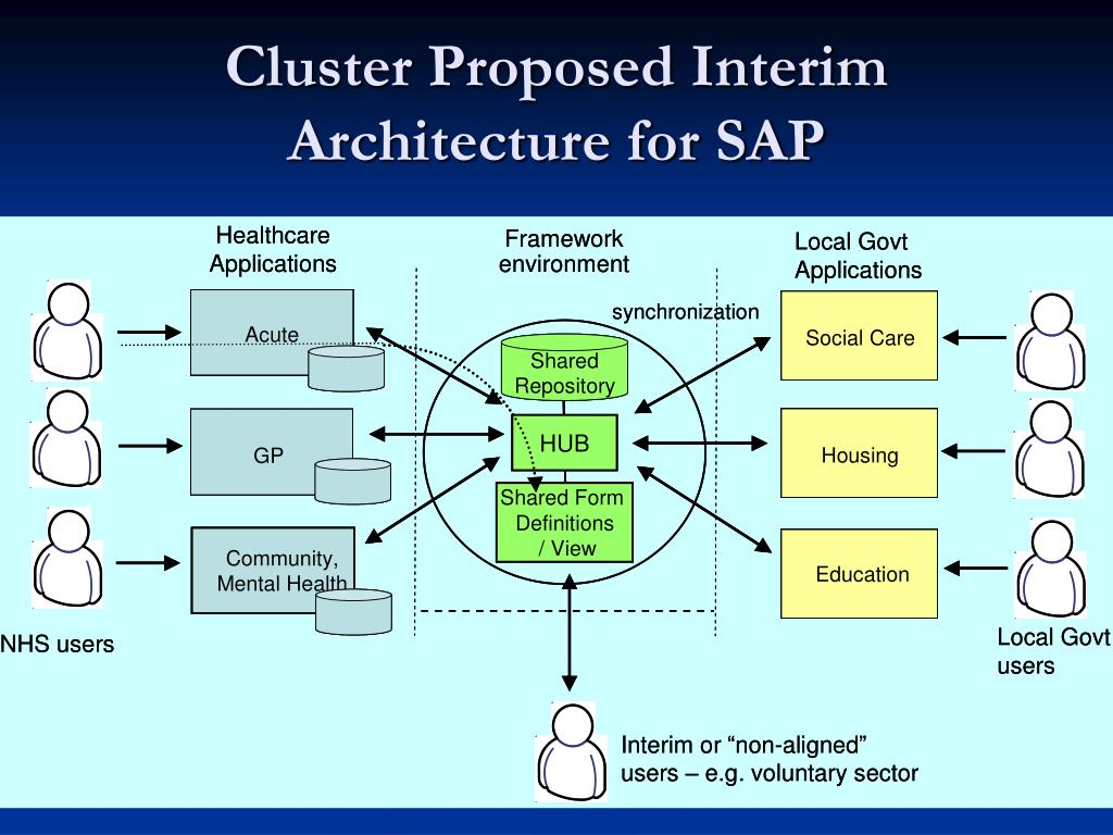 Cluster Proposed Interim Architecture for SAP