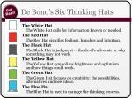 de bono s six thinking hats