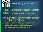 how many chcs in us