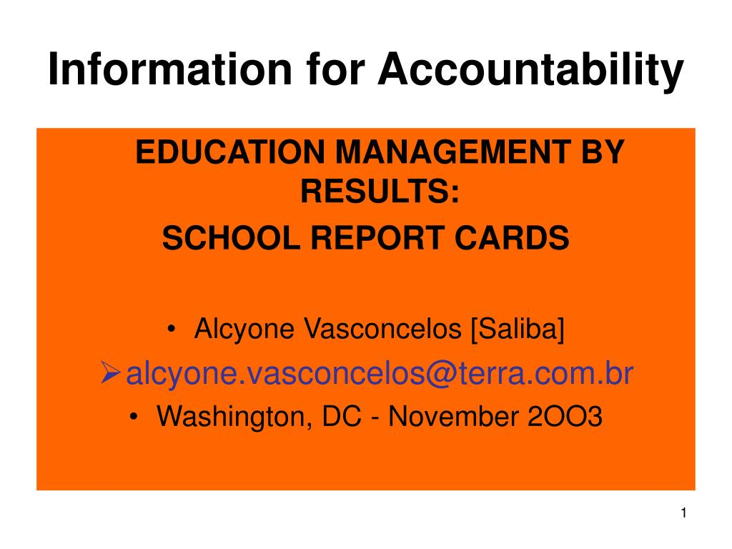 Information for Accountability