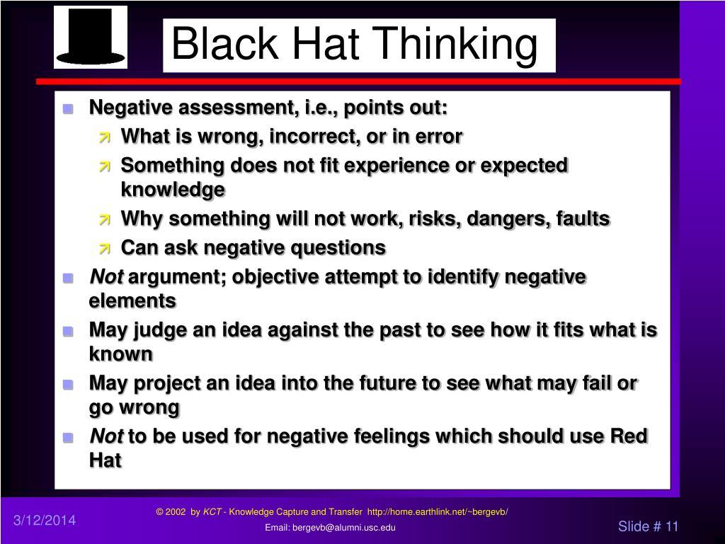 Black Hat Thinking