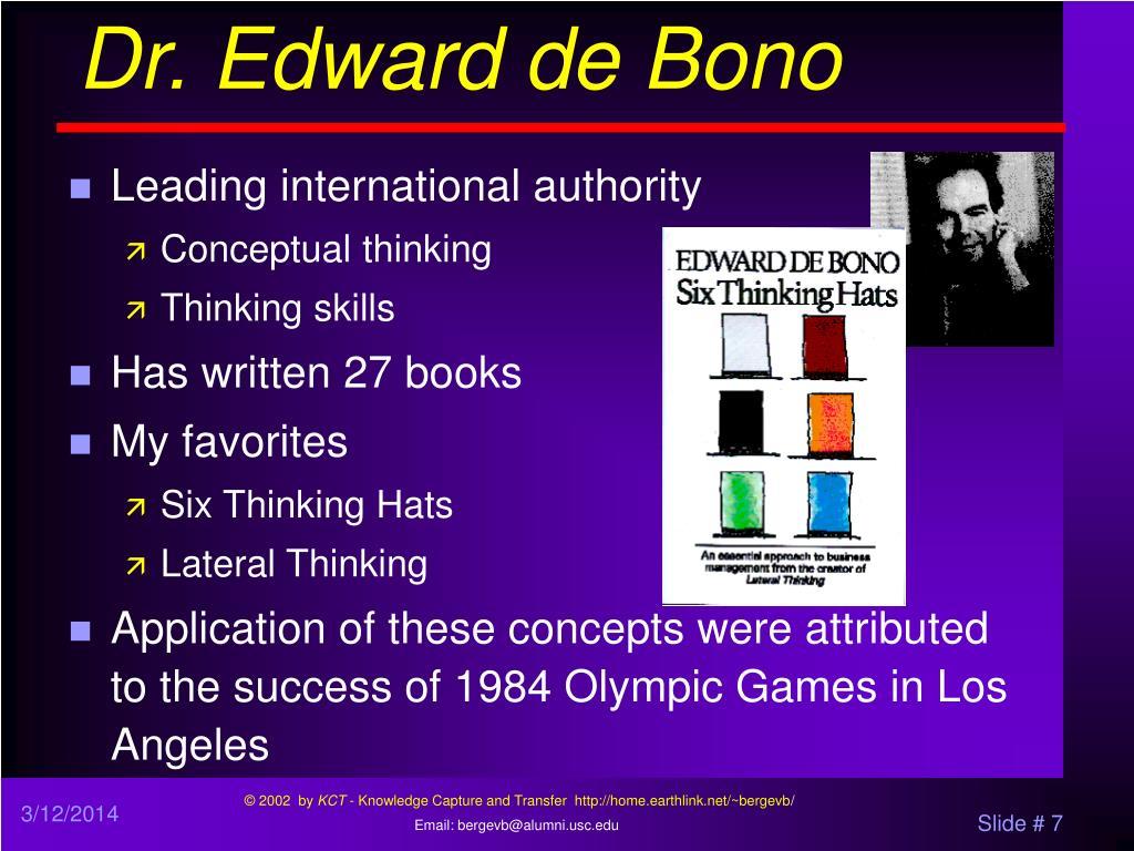 Dr. Edward de Bono