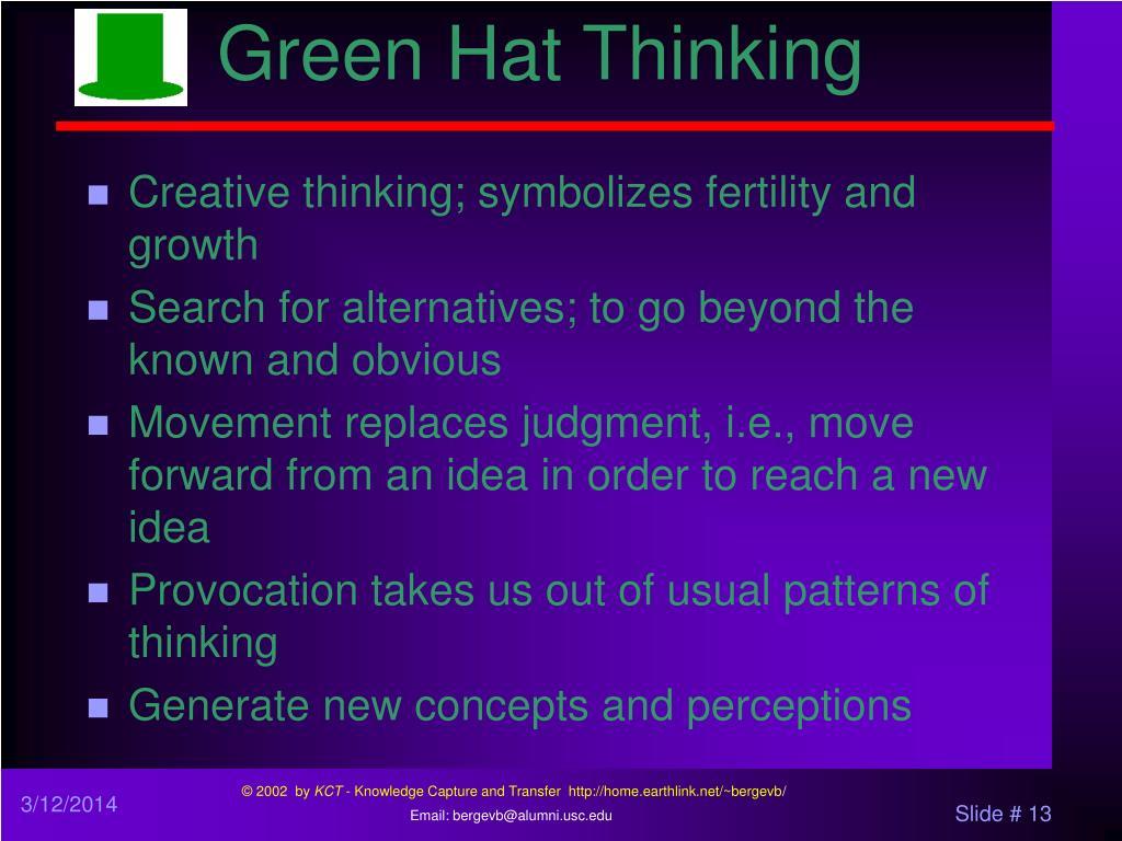 Green Hat Thinking