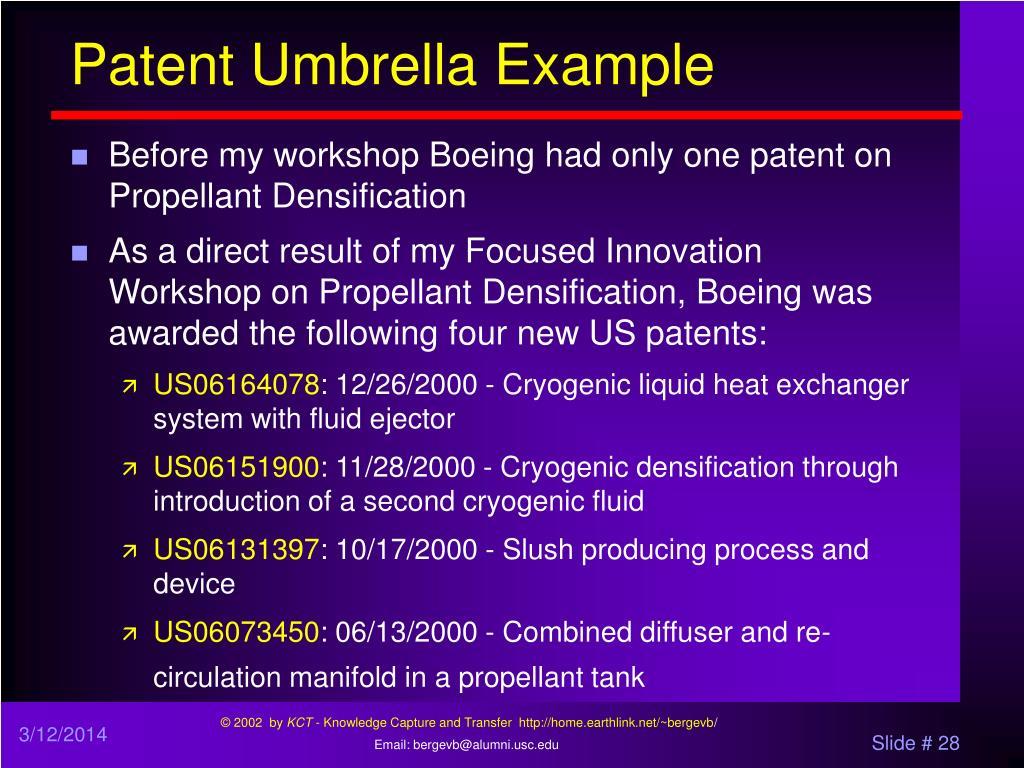 Patent Umbrella Example