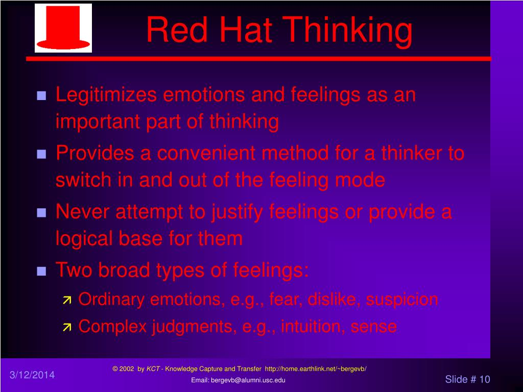 Red Hat Thinking