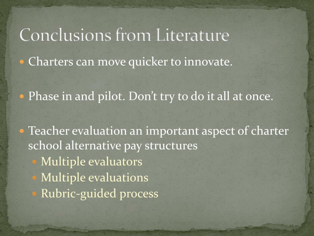 Conclusions from Literature