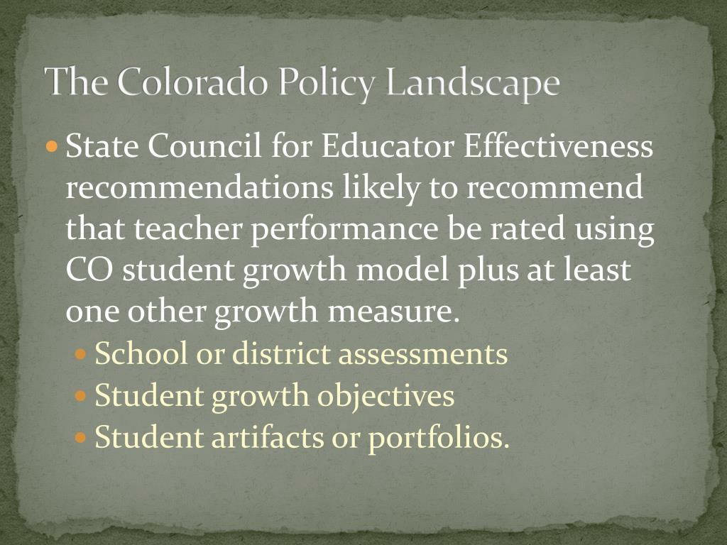 The Colorado Policy Landscape