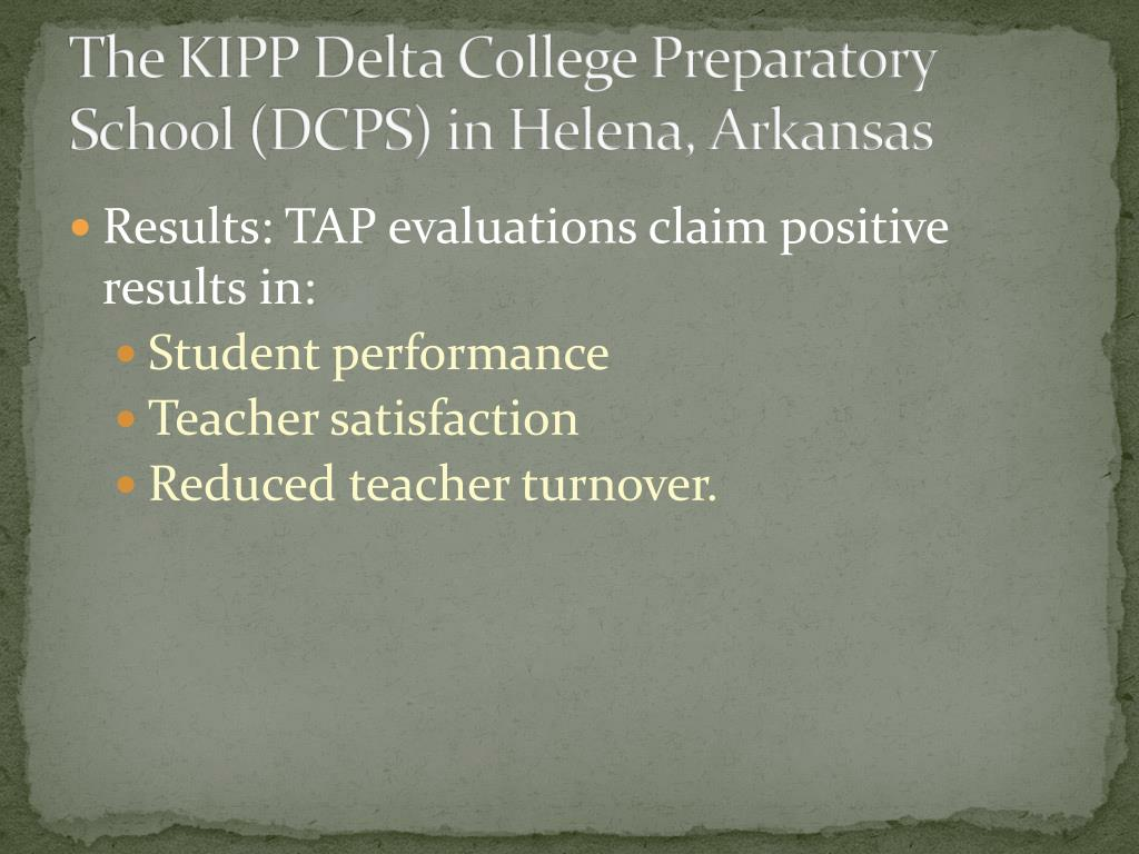 The KIPP Delta College Preparatory School (DCPS) in Helena, Arkansas