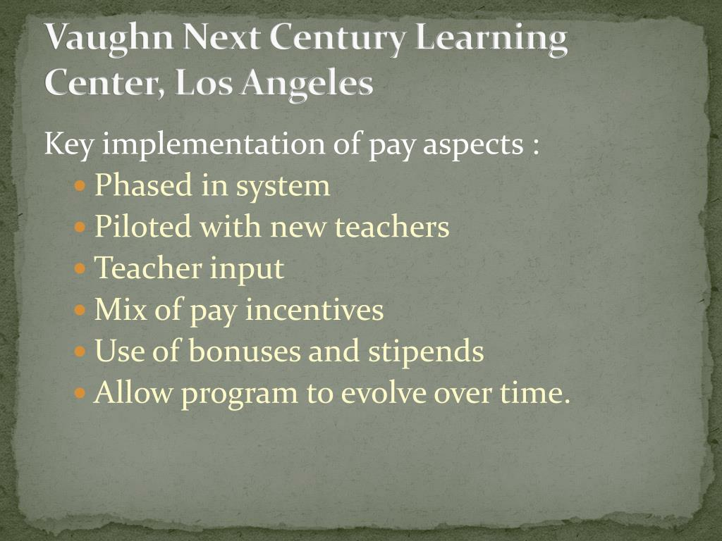 Vaughn Next Century Learning Center, Los Angeles