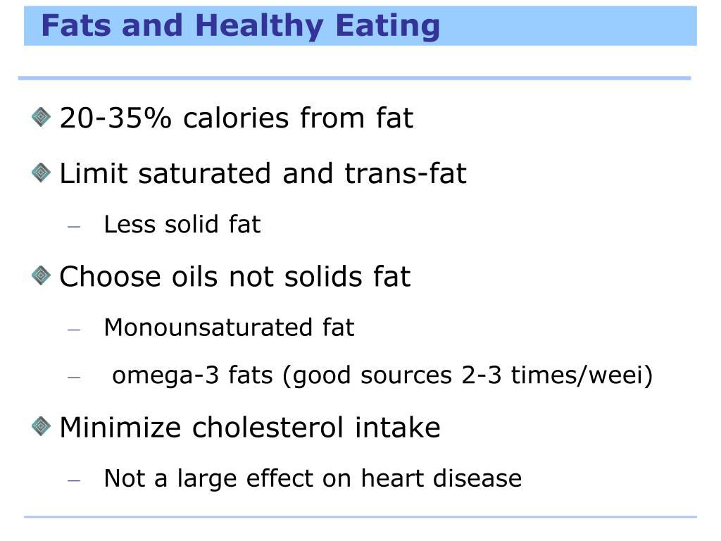 Fats and Healthy Eating