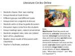 literature circles online