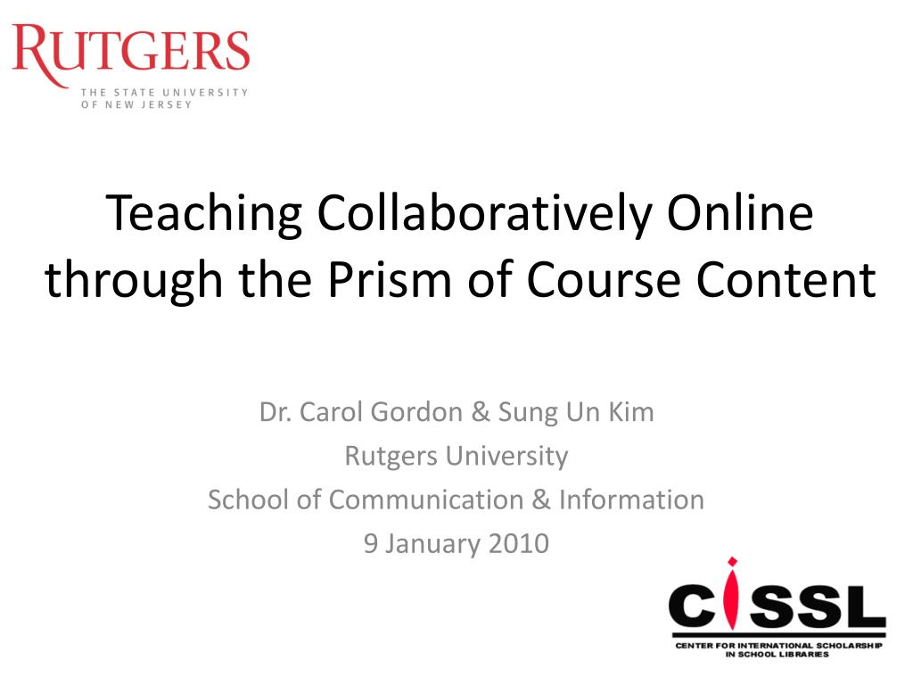teaching collaboratively online through the prism of course content