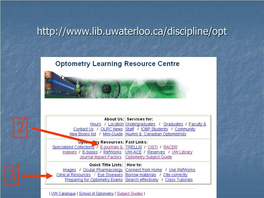 http://www.lib.uwaterloo.ca/discipline/opt