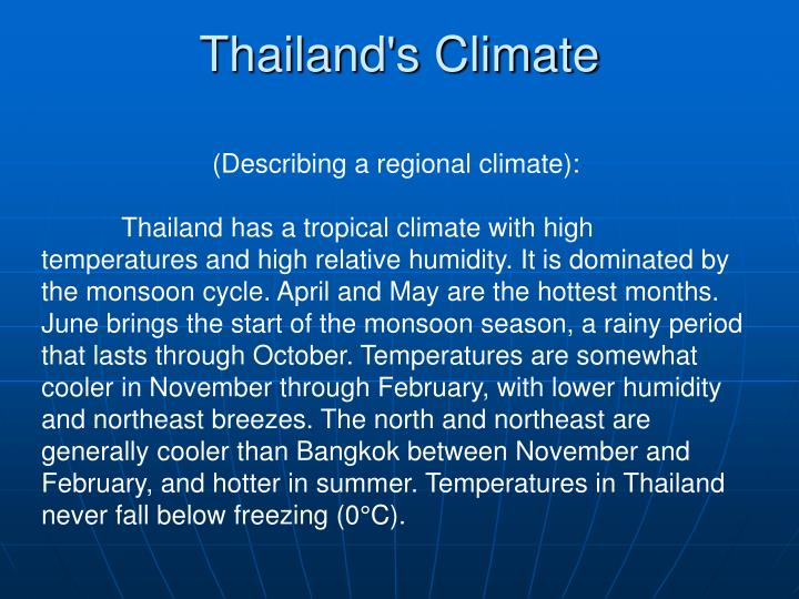 Thailand's Climate