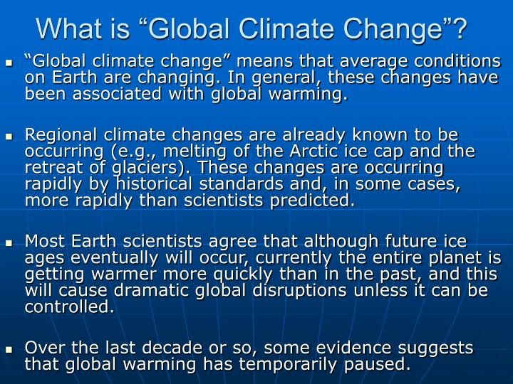 "What is ""Global Climate Change""?"
