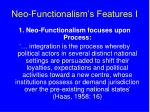 neo functionalism s features i