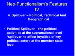 neo functionalism s features iv