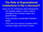 the role of supranational institutions in the li account25
