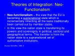 theories of integration neo functionalism