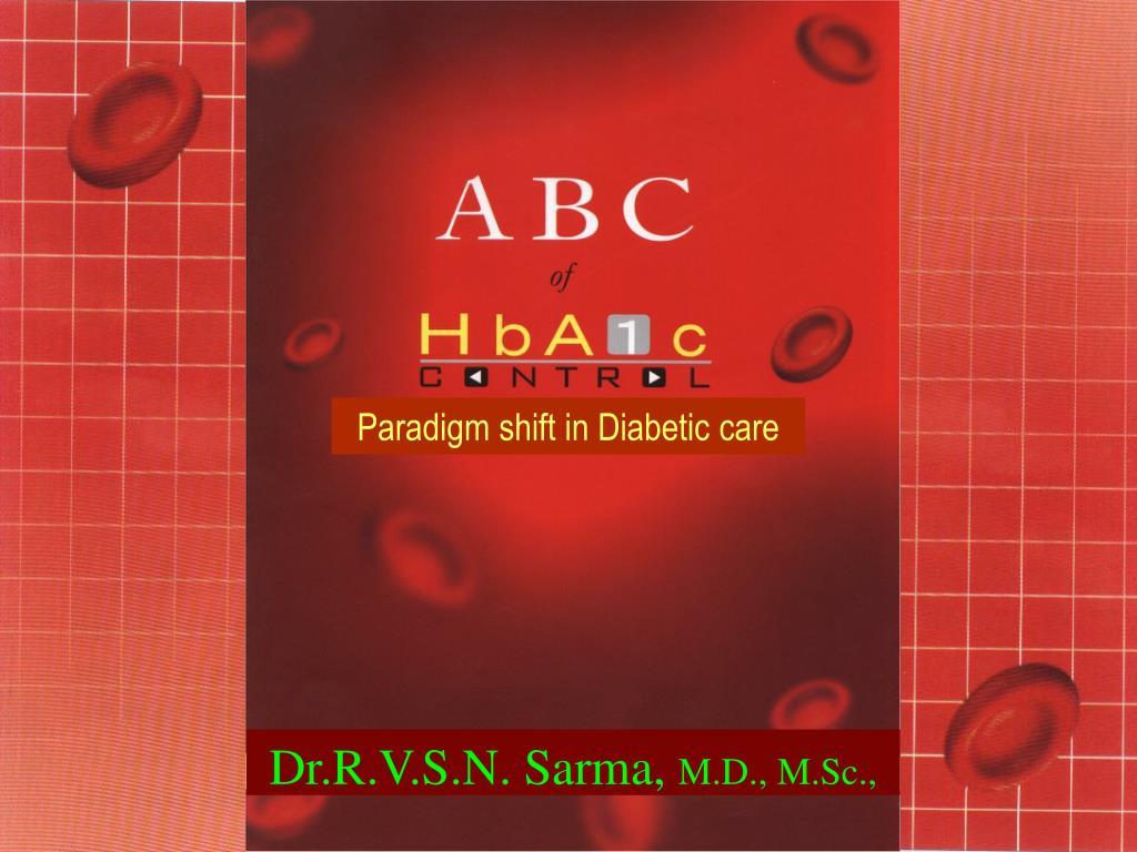 Paradigm shift in Diabetic care