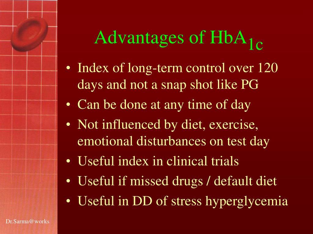 Advantages of HbA