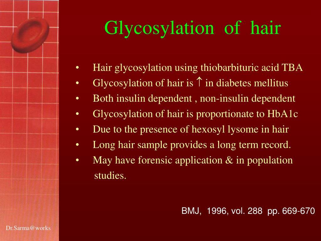 Glycosylation  of  hair