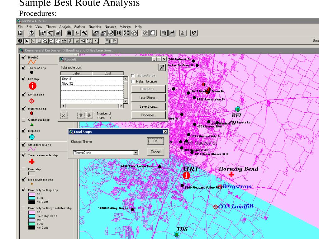 Sample Best Route Analysis