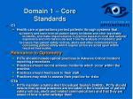 domain 1 core standards