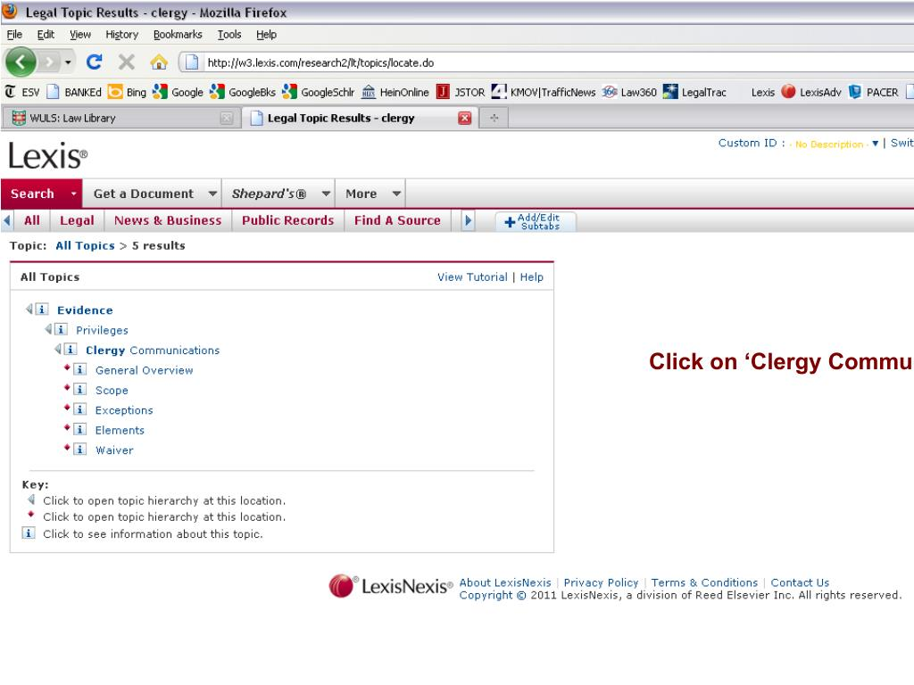 Click on 'Clergy Communications.'