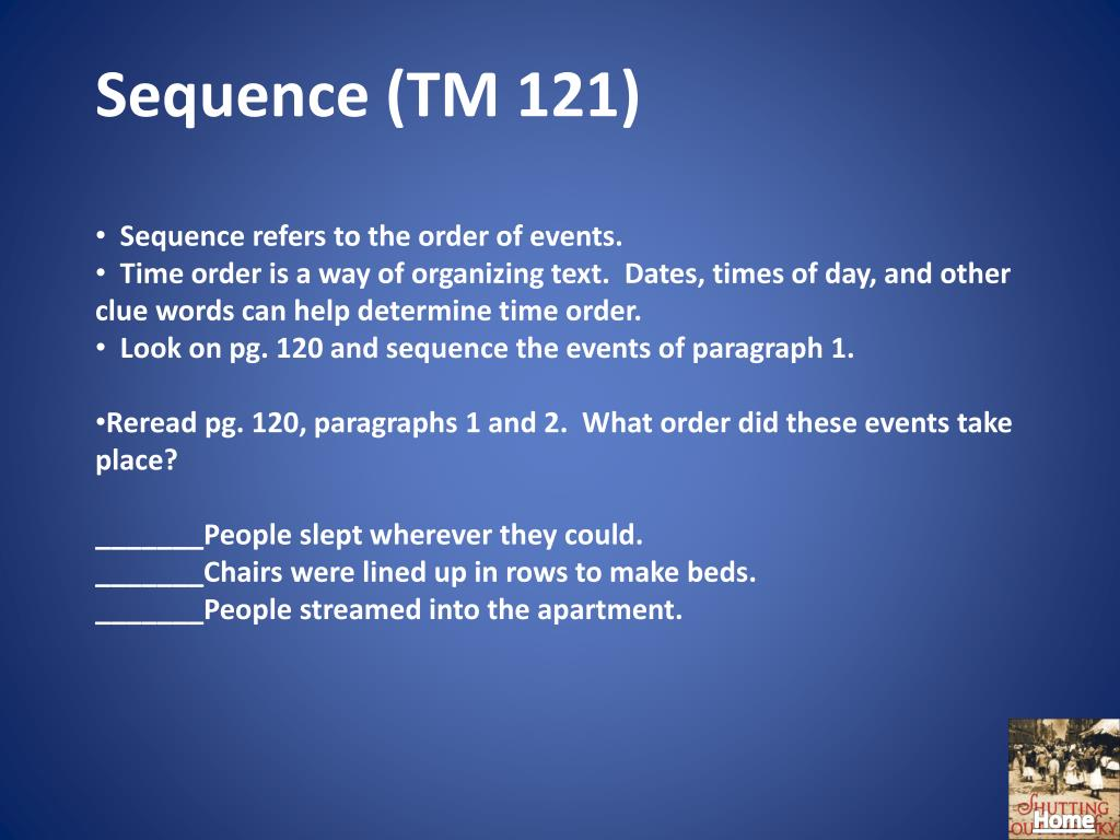 Sequence (TM 121)
