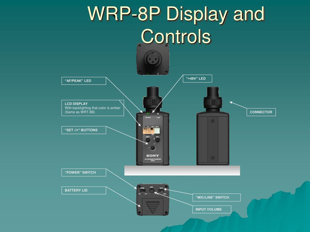 WRP-8P Display and Controls