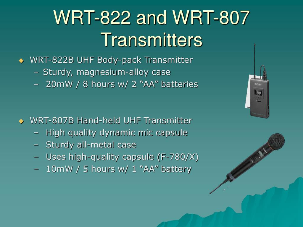 WRT-822 and WRT-807 Transmitters