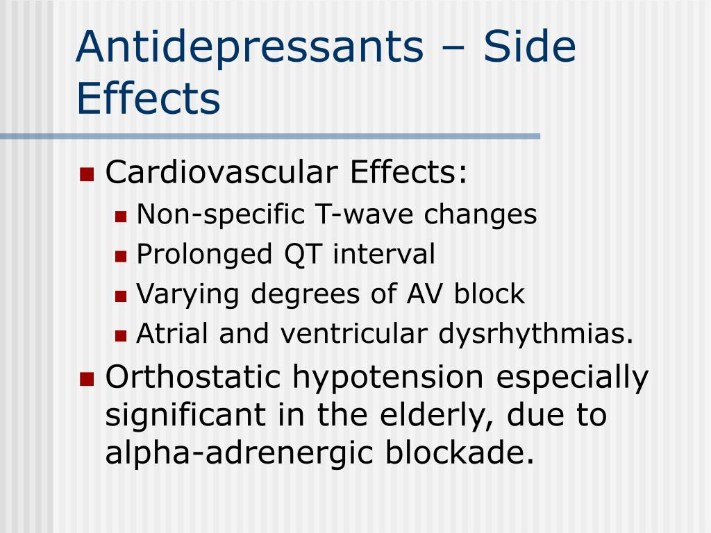 Antidepressants – Side Effects