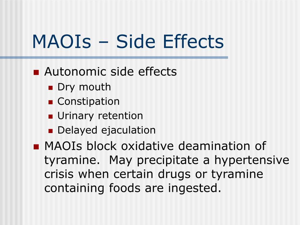 MAOIs – Side Effects