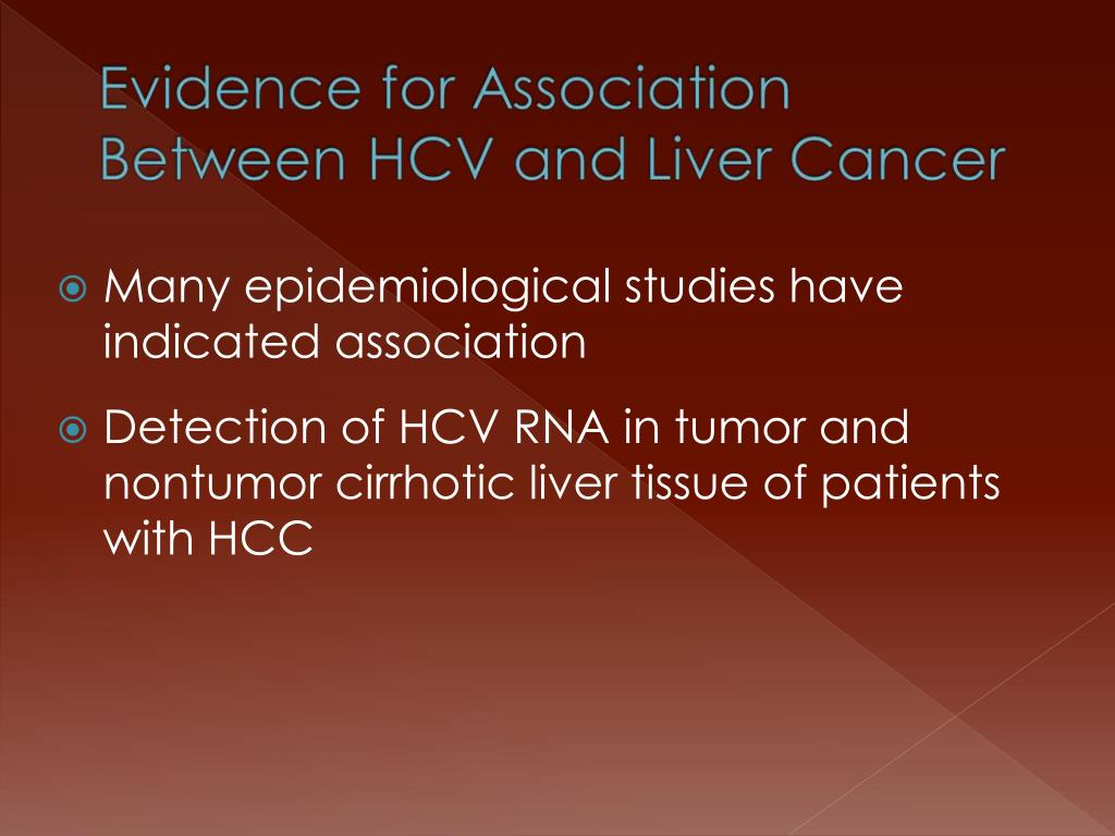 Many epidemiological studies have indicated association