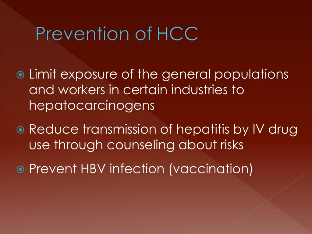 Limit exposure of the general populations and workers in certain industries to hepatocarcinogens