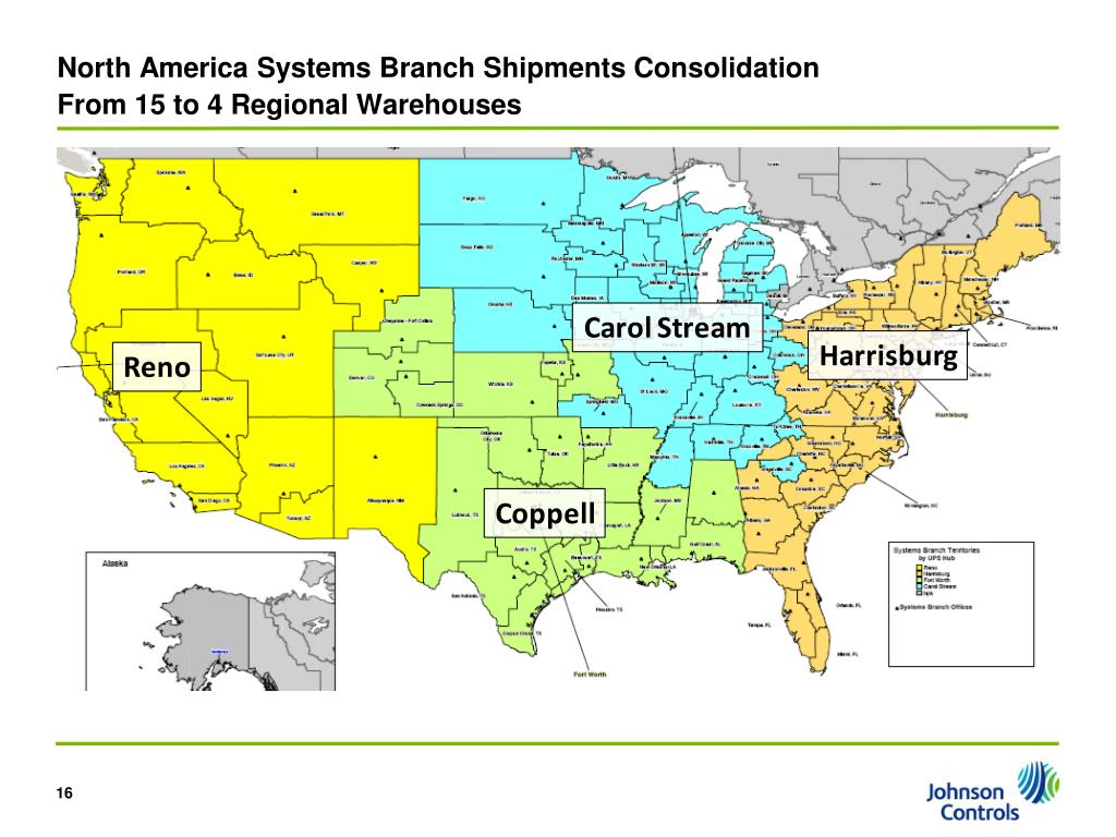 North America Systems Branch Shipments Consolidation