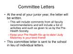 committee letters11