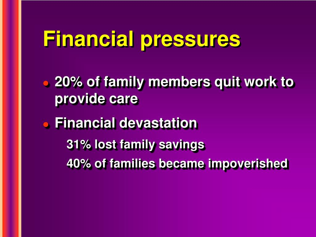 Financial pressures