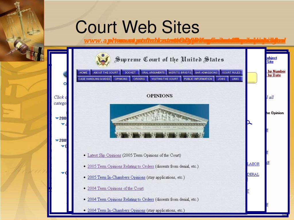 Court Web Sites