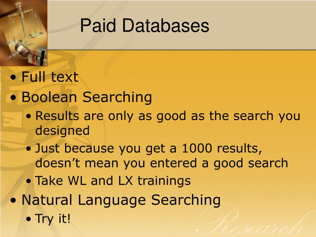 Paid Databases