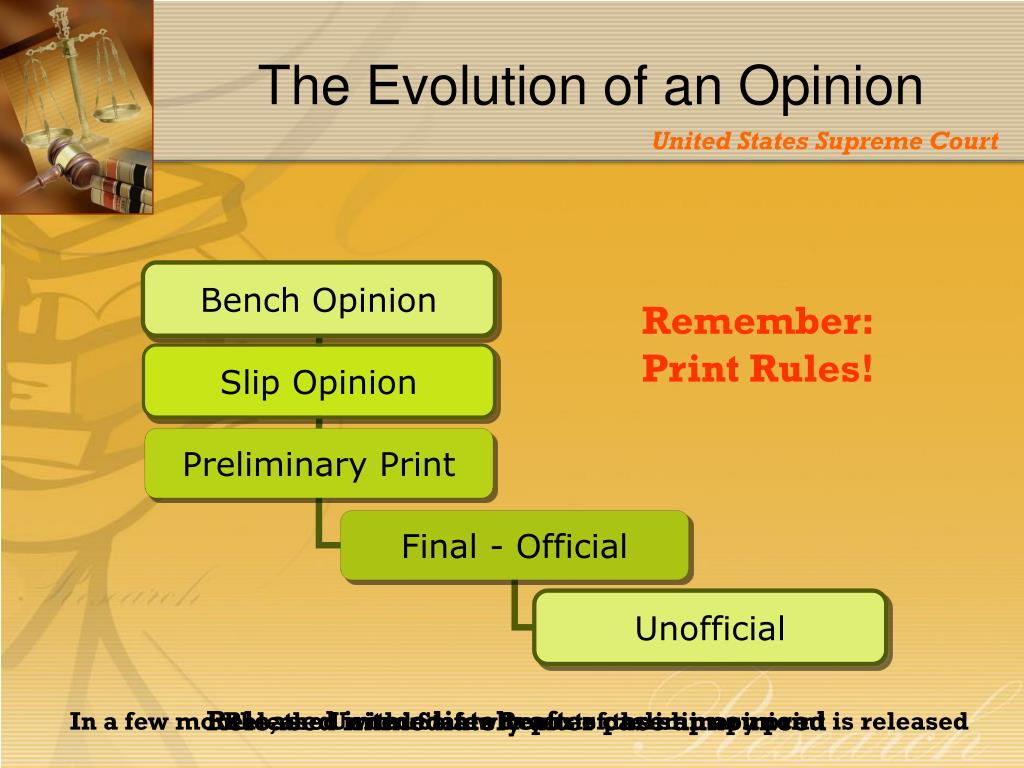 The Evolution of an Opinion