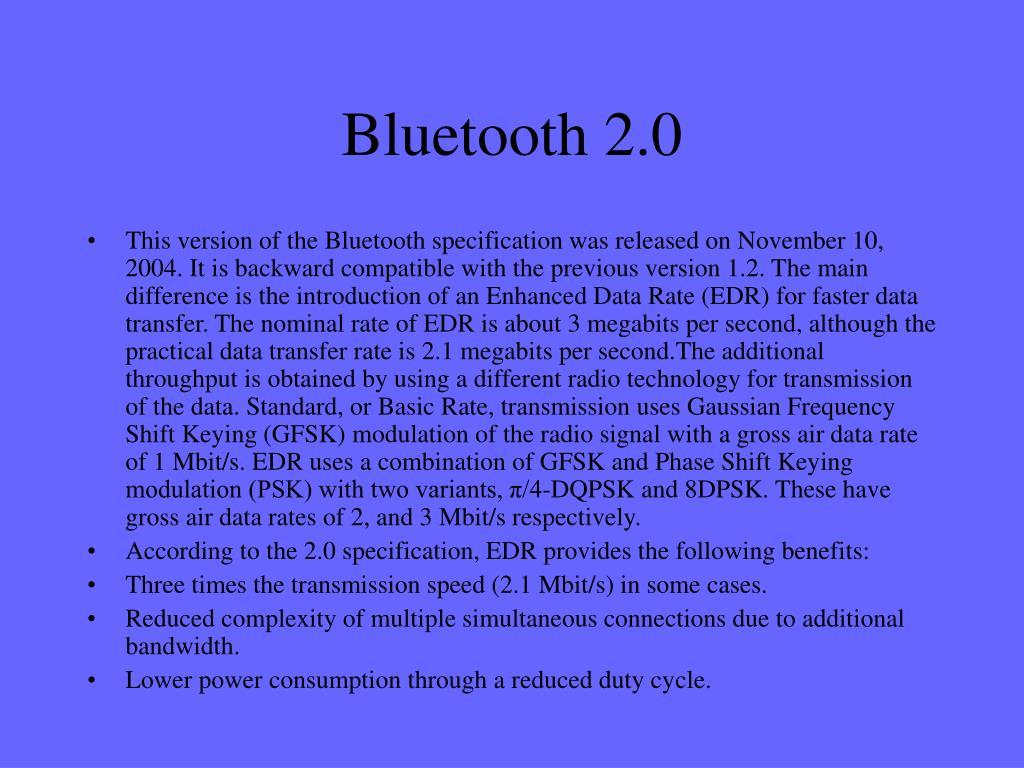 Bluetooth 2.0