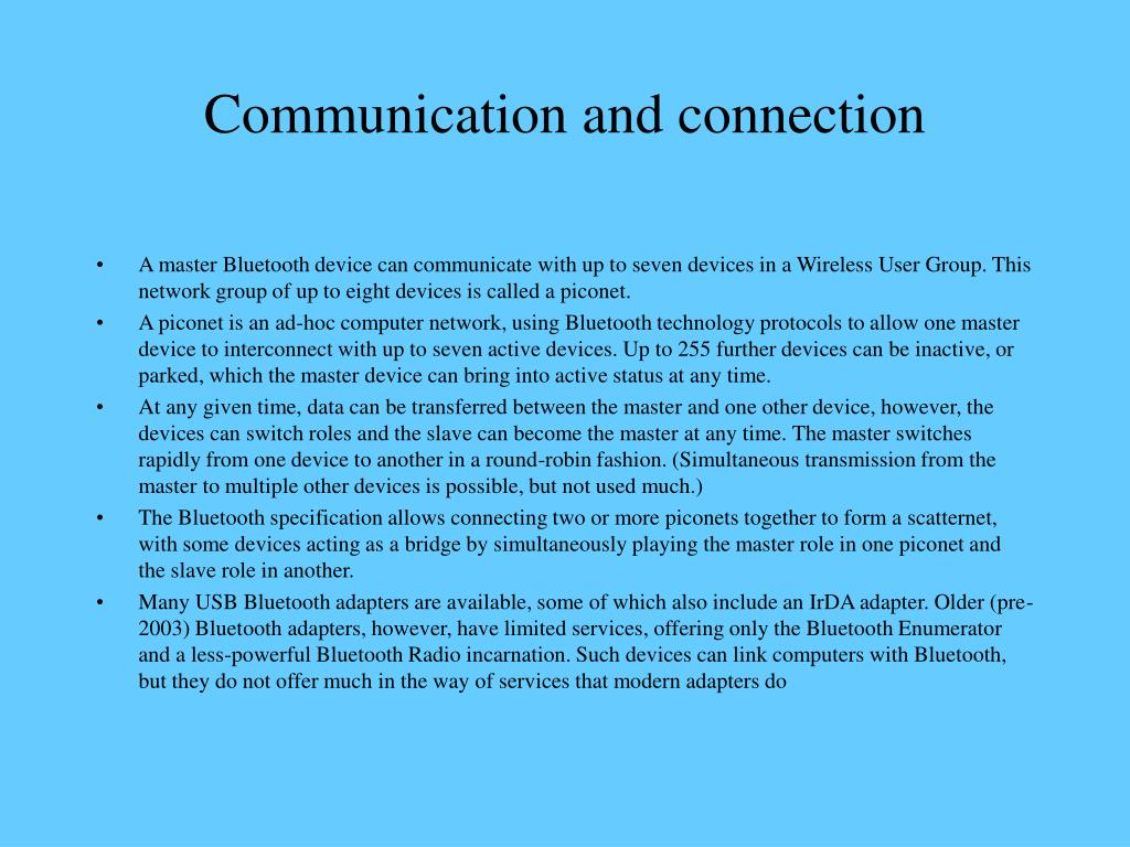 Communication and connection