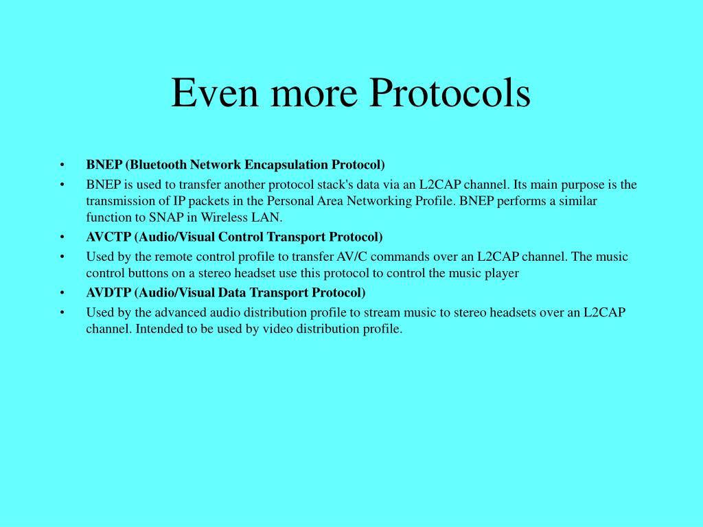 Even more Protocols