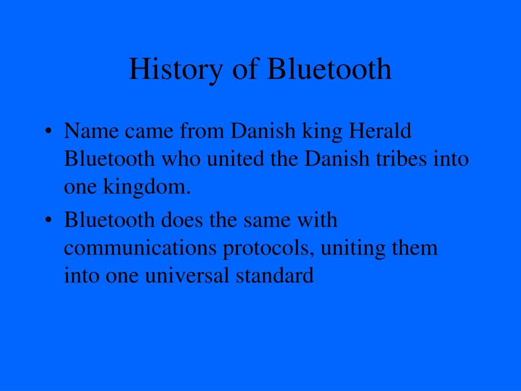 History of Bluetooth