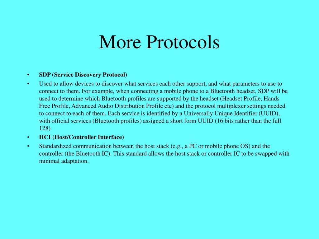 More Protocols