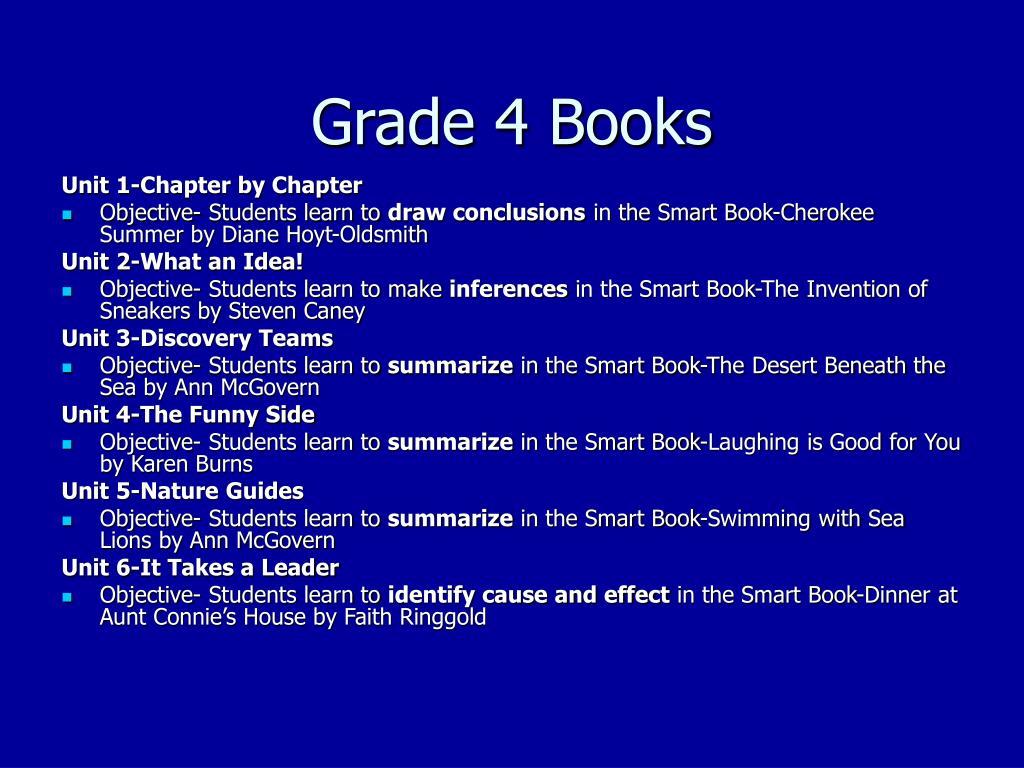 Grade 4 Books