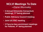 nclvi meetings to date diane wormsley