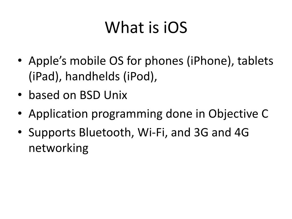 What is iOS